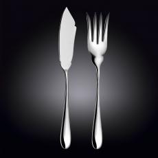 Набор нож сервировочный для рыбы, вилка сервировочная для рыбы 28 и 26,5 см WL‑999133/2C, фото 1