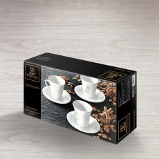 Набор из 4-х кофейных чашек с блюдцами 160 мл WL‑993005/4C, фото 2