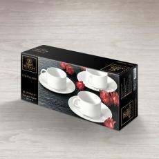 Набор из 4-х чайных чашек с блюдцами 160 мл WL‑993006/4C, фото 2