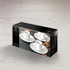 Набор из 4-х кофейных чашек с блюдцами 90 мл WL‑993007/4C, фото 2