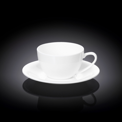 Набор из 6-ти чашек для капучино с блюдцами 180 мл WL‑993001/6C, фото 3