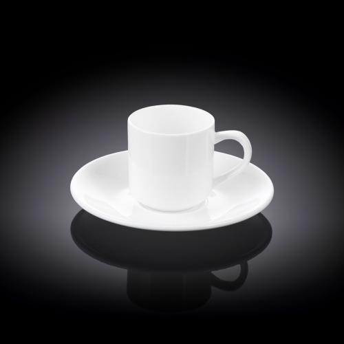 Набор из 2-х кофейных чашек с блюдцами 90 мл WL‑993007/2C, фото 3