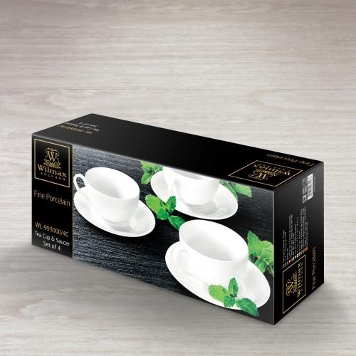 Набор из 4-х чайных чашек с блюдцами 250 мл WL‑993000/4C, фото 4