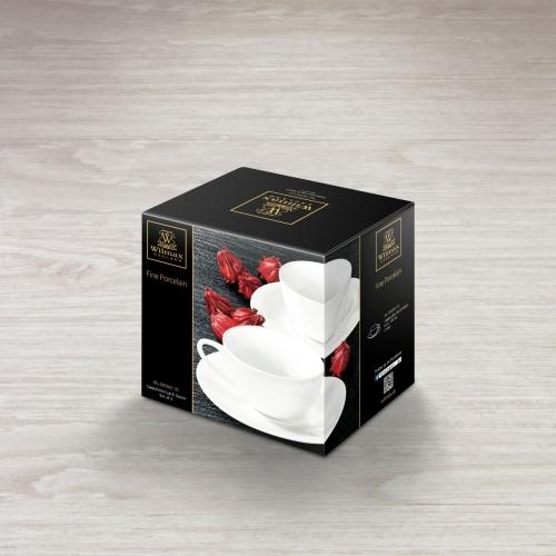 Набор из 2-х чашек для капучино с блюдцами 180 мл WL‑993001/2C, фото 4