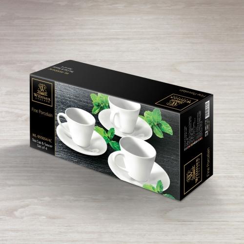 Набор из 4-х чайных чашек с блюдцами 180 мл WL‑993004/4C, фото 4