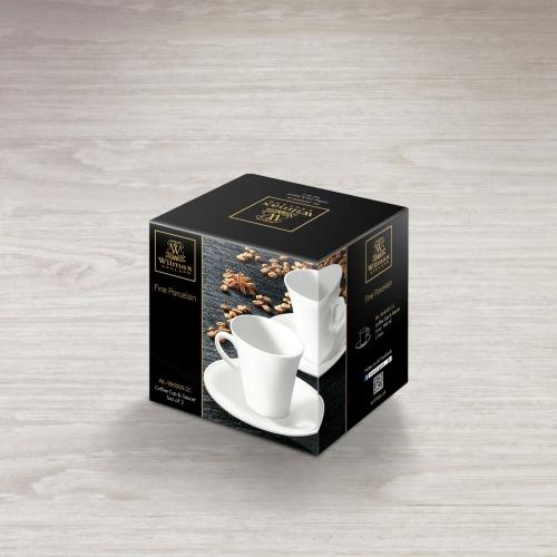 Набор из 2-х кофейных чашек с блюдцами 160 мл WL‑993005/2C, фото 4
