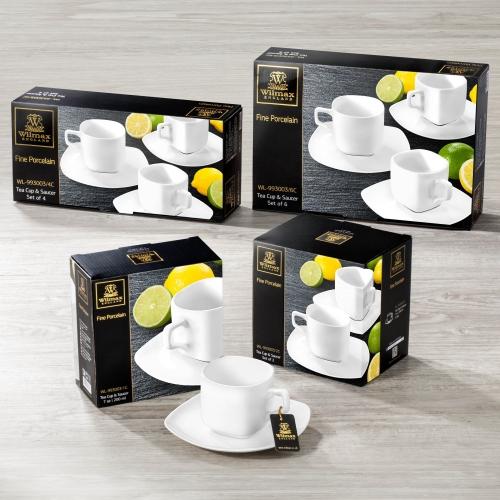 Набор из 6-ти чайных чашек с блюдцами 200 мл WL‑993003/6C, фото 4