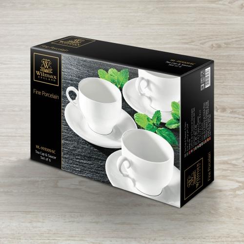Набор из 6-ти чайных чашек с блюдцами 220 мл WL‑993009/6C, фото 4